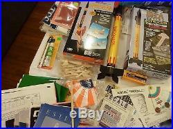 HUGE Lot Vtg Estes Model Rockets Engines Parts Catalogs Space Shuttle Columbia