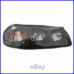 Headlight Set For 2000-2004 Chevrolet Impala Left and Right With Bulb 2Pc