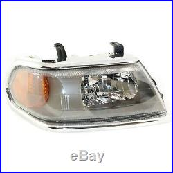 Headlight Set For 2000-2004 Mitsubishi Montero Sport With Chrome Trim 2Pc