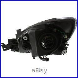Headlight Set For 2004-2007 Mitsubishi Lancer Left and Right Black Housing 2Pc