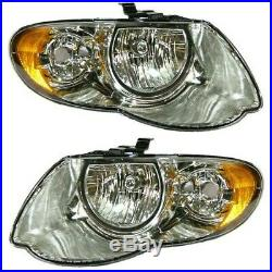 Headlight Set For 2005 2006 2007 Chrysler Town & Country Left and Right 2Pc