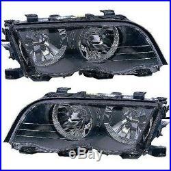 Headlights Headlamps Left & Right Lamp Pair Set for BMW 3 Sedan Series