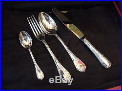 Homemaker Christofle 49 Parts Model Marly Silver Plate Silver Silber