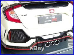 Honda CIVIC 118 Model Type-r LCD Die Cast White Opening Parts Detailed Model