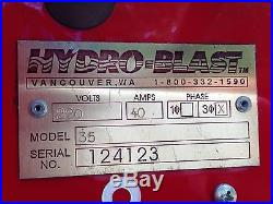 Hydro Blast Automatic Parts Washer Model 35 for Automotive Industrial