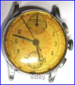 IMPERIAL CHRONOGRAPH WRIST WATCH 7J MODEL 136 No 6040 FOR PARTS/REPAIRS #W161