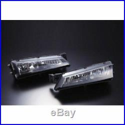 JDM SILVIA S14 14 240SX 95-99 KOUKI HEADLIGHT LIGHTS Chrome NEW Black Lens JAPAN