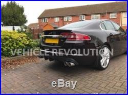 Jaguar X250 XF XFR XFR-S Style 2 Piece Rear Diffuser Valance 2008 2015 Models