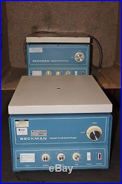 Lot of 2x Beckman Model TJ-6 Centrifuge one used / one for parts and AS-IS