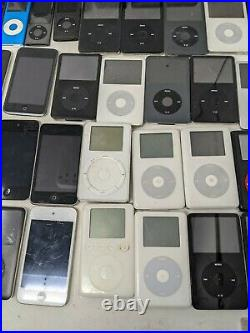 Lot of 70 Apple iPods Vintage & New Models, Untested Huge Variety Parts & Repair