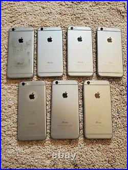 Lot of 7 Apple iPhone 6 Model A1549 different storage FOR PARTS