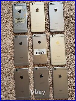 Lot of 9 Apple iPhone 6s ModelA1688/ PARTS