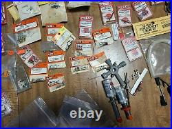 Lot of R/C Model Airplane Parts Spinners Engine Mounts Fuel Tanks hware etc