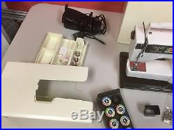 MINT! Viking HUSQVARNA Sewing Machine Model 64 40 complete withparts & Access