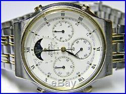 Mens Seiko Moonphase Chronograph Roman Numeral watch model # 7A48-7000 parts