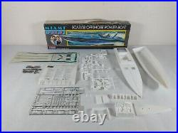 Miami Vice Scarab Offshore Powerboat Monogram Model Kit # 3104 Parts Lot