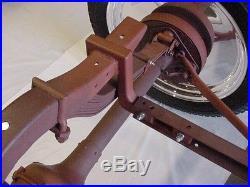 Model T Ford speedster rear frame lowering modification