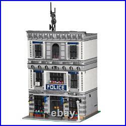 Modular Police Station Model MOC Building Bricks Toys Set 3128 Pieces Parts