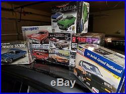 Muscle car model kit lot