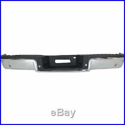 NEW Chrome Complete Rear Steel Bumper Assembly For 2006-2008 Ford F150 with Park