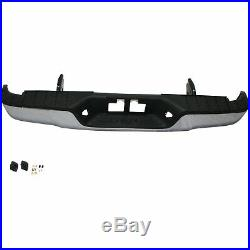 NEW Chrome Complete Steel Rear Bumper With Hardware For 2007-2013 Toyota Tundra