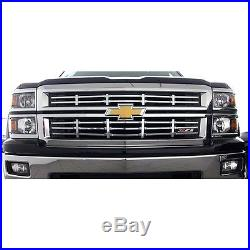 NEW! Chrome Grille Overlay (2 PCS) FIT 2014 2015 Chevy Silverado 1500 Z71 ONLY