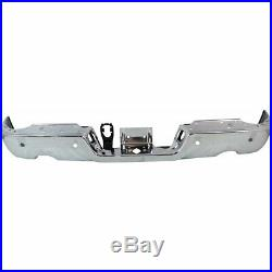 NEW Chrome Rear Step Bumper Steel Face Bar for 2009-2018 Dodge RAM 1500 With Park