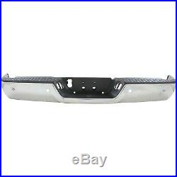 NEW Chrome Steel Rear Bumper Assembly for 2009-2018 Dodge RAM 1500 With Park 09-18