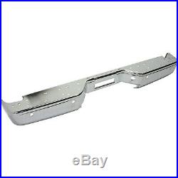 NEW Chrome Steel Rear Bumper Face Bar for 2004-2014 Nissan Titan Pickup With Park