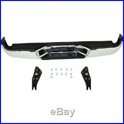 NEW Steel Complete Chrome Rear Bumper Assembly for 2005-2015 Tacoma 05-15 SR5
