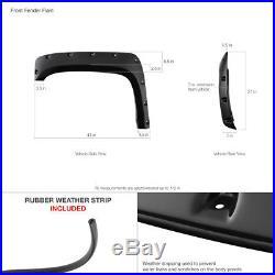 NON-Short Bed Models 07-13 Chevy Silverado 4P Pocket-Rivet Wheel Fender Flares
