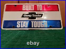 NOS Vintage GM Chevy Trucks Lasting Value Dealer Promo license plate C10