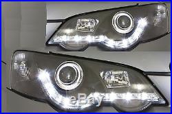 New LED Black Projector Headlights for Ford Falcon BA BF XR6 XR8 Models DRL Like