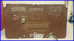 ORIGINAL VINTAGE 1949 COCA COLA COOLER AM RADIO / MODEL 5A410A Parts or Repair