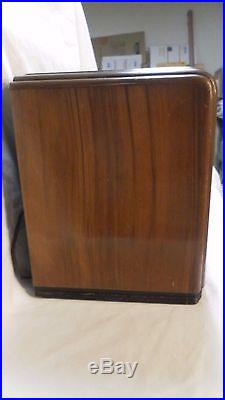 Old Antique Wood Zenith Vint Tube Radio Model 5-S-119 Restore or Parts Blk Dial