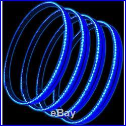 Oracle 4215-002 15 Blue LED Illuminated Wheel Rings Rim Light Kit with Switch