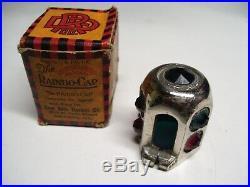 Original 1920 s- 1930s Vintage auto nos Hot Rod Glass Jeweled Dash Light Lamp