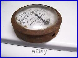 Original 1930 s- 1940s Vintage auto Visor Thermometer temp gauge Ford gm chevy