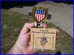 Original 1940s nos License plate topper Accessory vintage scta GM Ford Chevy
