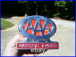 Original 1950s AAA auto vintage scta GM Ford Chevy license plate topper nos part