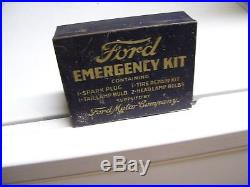 Original rare 30s Ford vintage Emergency kit box head lamps tool kit model a t