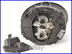 PERDE Chrome Projector Headlight Set Fits 06-10 Volkswagen Beetle Halogen Models
