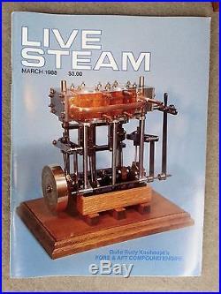 PERFECT LIVE STEAM ENGINE Stuart Twin Launch Model, Vintage Toy, plus booklets
