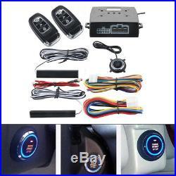PKE Car Alarm System Passive Keyless Entry Push Button Remote Engine Start/Stop