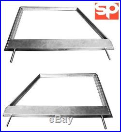 Pair Galvanised Door tops For Land Rover Series 2/2a Models 1958-71 Unglazed
