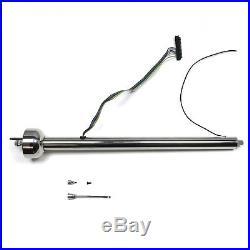 Polished Stainless Steel 30 Street Rod Steering Column Floor Shift GM Hot Rod