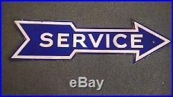 Porcelain Service Sign Ford Original 1930's 1940's Arrow Flathead Model A 48