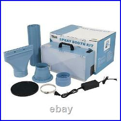 Portable Airbrush Paint Spray Booth Kit Exhaust Filter Toy Hobby Model Parts