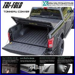 Premium Soft Tri-Fold Tonneau Cover Fit 2007-2013 Chevy Silverado 6.5ft 78 Bed