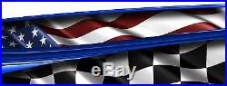 RACE CAR GRAPHICS, Wrap, Decals, IMCA Late Model Dirt Trailer Sprint Flag #24